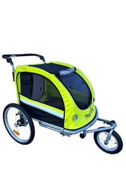 Booyah Pet Dog stroller and Bike Bicycle Trailer with Suspen
