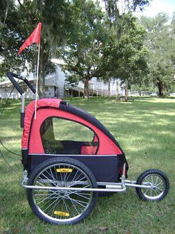 SALE RED 2 IN 1 BABY CHILD BIKE BICYCLE TRAILER STROLLER Fre