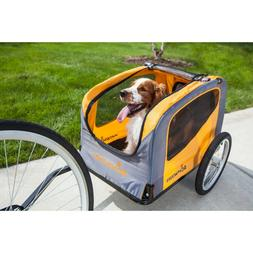 Pet Bike Trailer Cage Orange Dog Cat Small Animal Carrier Bi