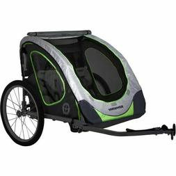 Schwinn Zap Double Child Reflective Trailer Sporting Goods B