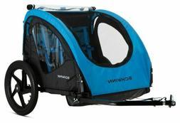 NEW Schwinn 2 Passenger Foldable Bike Trailer - Blue/Black 1