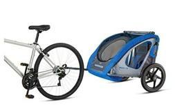 Schwinn Shuttle foldable bike trailer, 2 passengers, Blue Gr