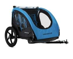 Schwinn Shuttle foldable bike trailer, 2 passengers, blue /