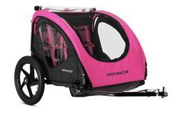 shuttle foldable bike trailer pink