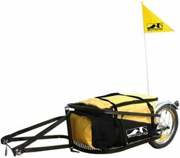 M Wave Single 40 Bicycle Luggage Trailer Single-Track Yellow