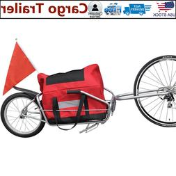 Single Wheel Cargo Trailer Steel Oxford Storage Bag Bicycle