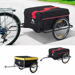Aosom Steel Frame Bicycle Bike Cargo Trailer Luggage Cart Ca