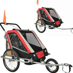 Suspension Children Bicycle Trailer Jogger Combo Red 50301