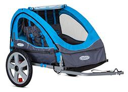 InStep Take 2 Kids/Child Bicycle Tow Behind Trailer, Blue Fo