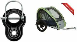 Instep Take 2 Kids/Child Bicycle Tow Behind Trailer, Green F