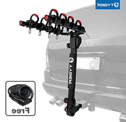 Tyger Auto TG-RK4B102B Deluxe 4-Bike Carrier Rack Fits Both