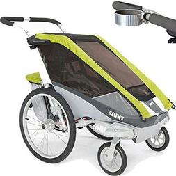 ThuleUSA Chariot Cougar Single Bicycle Trailer with Strollin