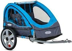 Bike Trailer for Toddlers Kids Double Seat 2-In-1 Canopy Car