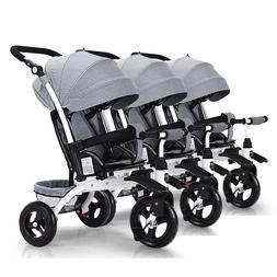 Triplets baby stroller three baby <font><b>bike</b></font> s