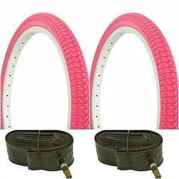 two pink 20x1 75 bmx bike bicycle