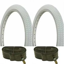 "Two WHITE 20x1.75"" BMX BIKE BICYCLE TRAILER JOGGER  TIRES &"