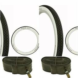 """Two WHITE WALL 20x1.75"""" BIKE BICYCLE TRAILER JOGGER TIRES &"""