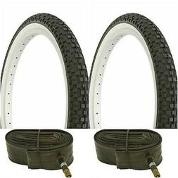 "Two WHITE WALL 20x1.95"" BIKE BICYCLE TRAILER JOGGER TIRES &"