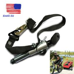 Universal Bike Trailer Coupler Attachment Hitch Steel Linker