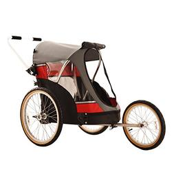 WIKE Wagalong Pet Trailer + Strolling + Jogging - Red/Gray
