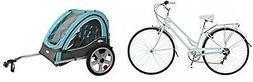Schwinn Womens Hybrid Bike Light Blue w/Double Bicycle Trail